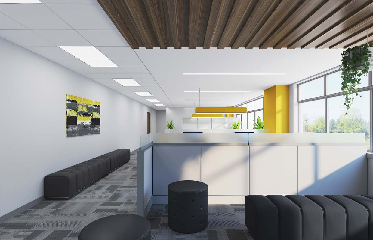 an office renovation completed by verona building partners